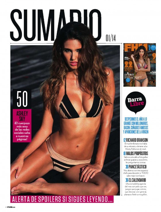 Ashley Sky – FHM (Spain) – January 2014
