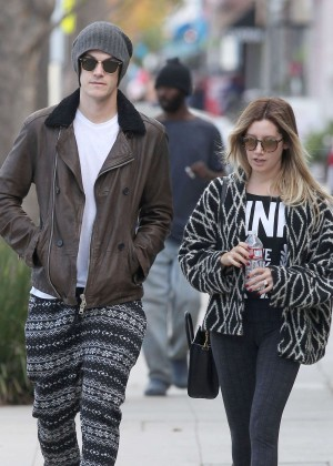 Ashley Tisdale & Christopher French Out in Studio City