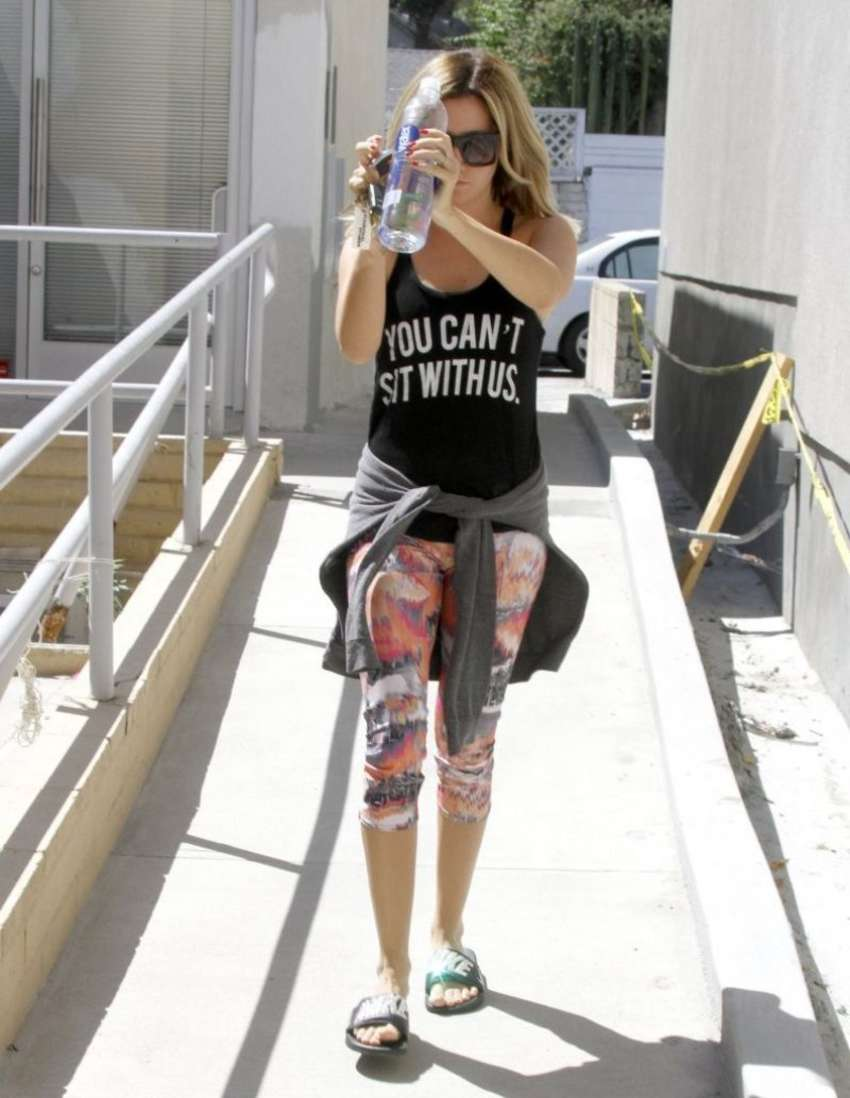 Ashley Tisdale 2014 : Ashley Tisdale in Tight Leggings -03