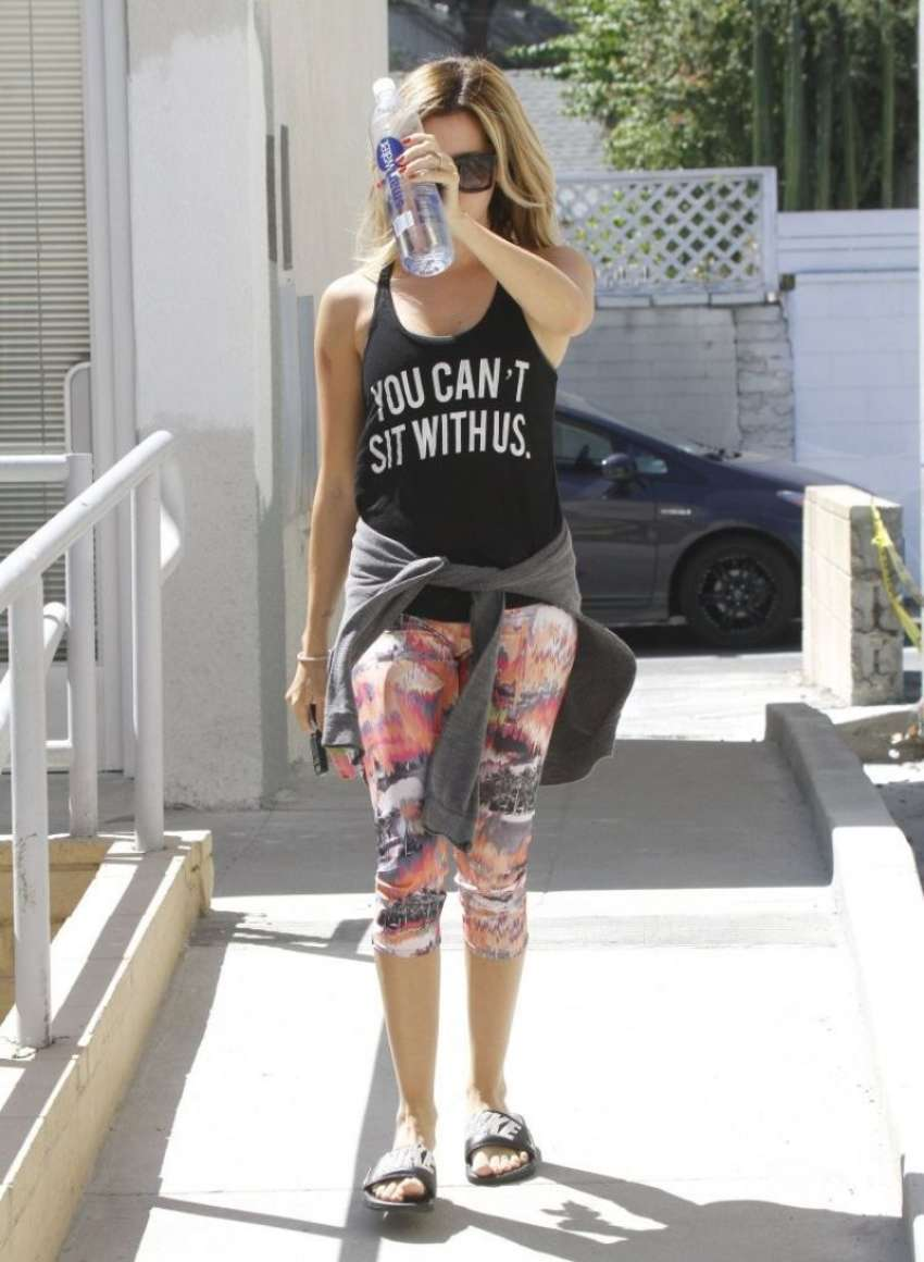 Ashley Tisdale 2014 : Ashley Tisdale in Tight Leggings -11