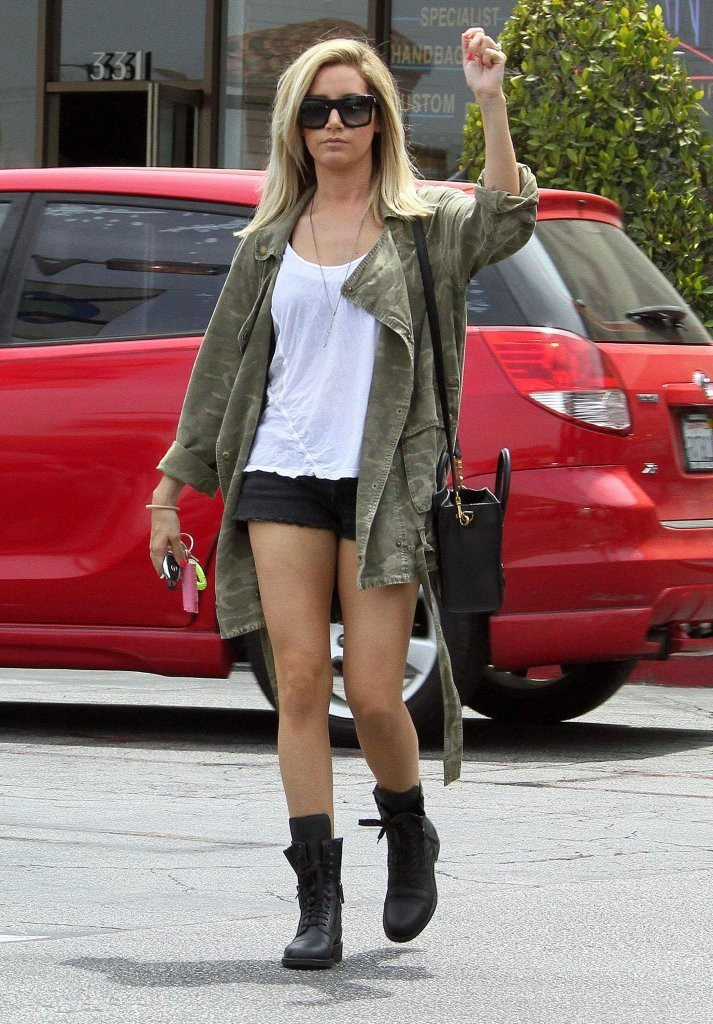 Ashley Tisdale - Going to a nail salon in Studio City -01