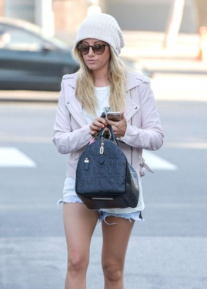 Ashley Tisdale in Jeans shorts -08
