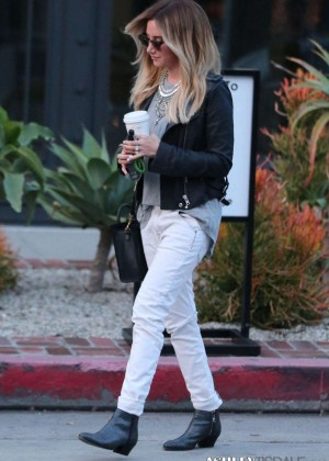 Ashley Tisdale - Leaving Nine Zero One Salon on Melrose Place