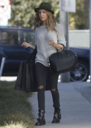 Ashley Tisdale in Ripped Jeans out and about in LA
