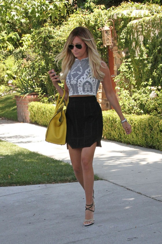 Ashley tisdale sexy skirt with you