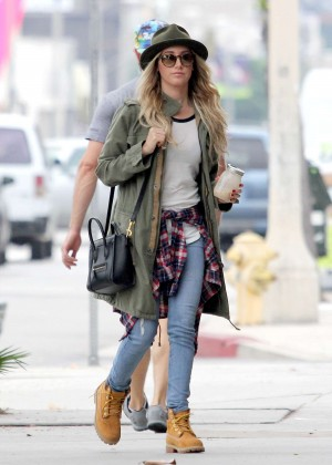 Ashley Tisdale in jeans shopping in West Hollywood
