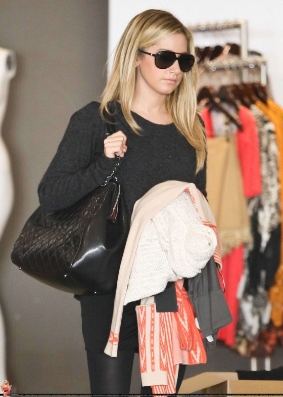 Ashley Tisdale – Leggy in Tight Skirt in Beverly Hills-04