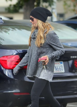 Ashley Tisdale in Spandex - Shops at Whole Foods in Studio City