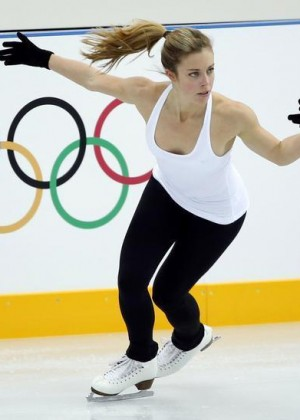 Ashley Wagner - Practices in Sochi -02