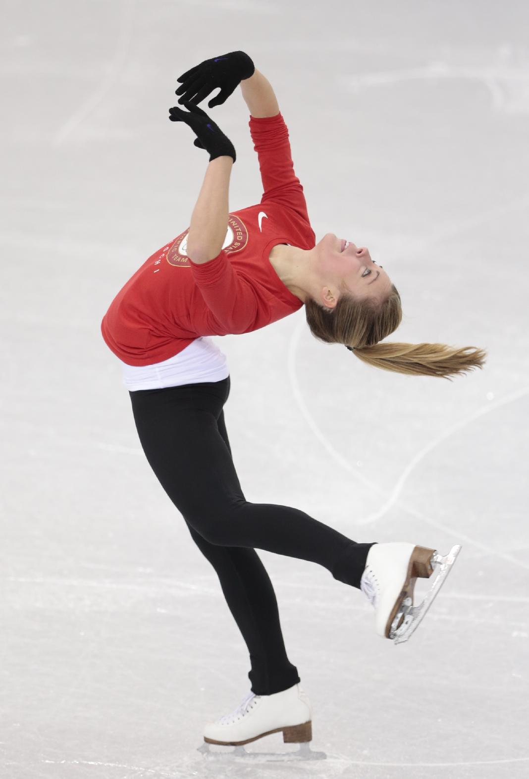 Ashley Wagner - Practices in Sochi -03 - GotCeleb