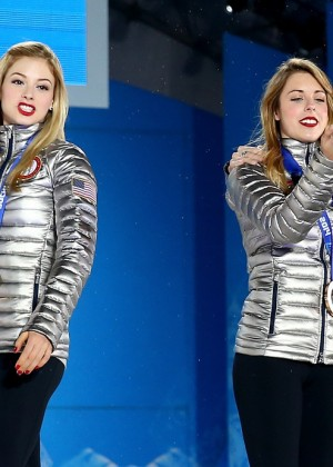 Ashley Wagner: Medal ceremony in Sochi 2014 -03