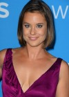 Ashley Williams showing cleavage in tight dress at CBS 2012 Fall Premiere Party