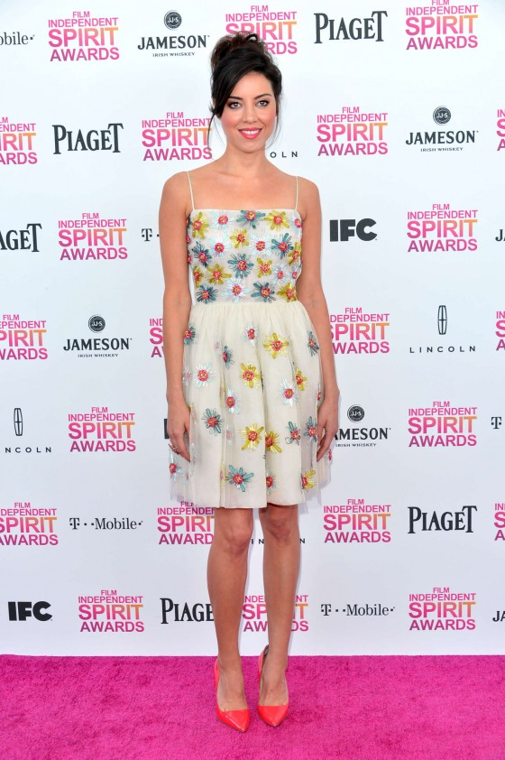 Aubrey Plaza – 2013 Film Independent Spirit Awards -01