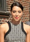 Aubrey Plaza - at Late Show with David Letterman-06