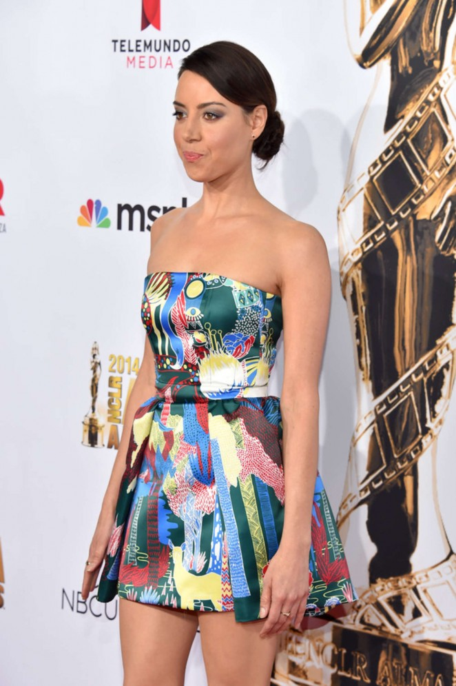 Aubrey Plaza: 2014 NCLR ALMA Awards -02
