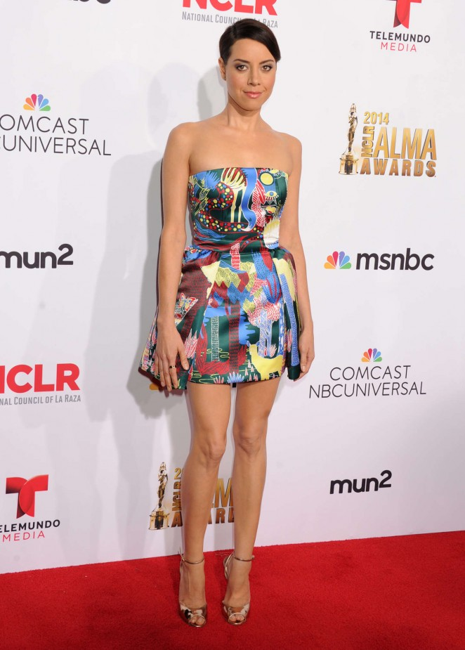 Aubrey Plaza: 2014 NCLR ALMA Awards -05
