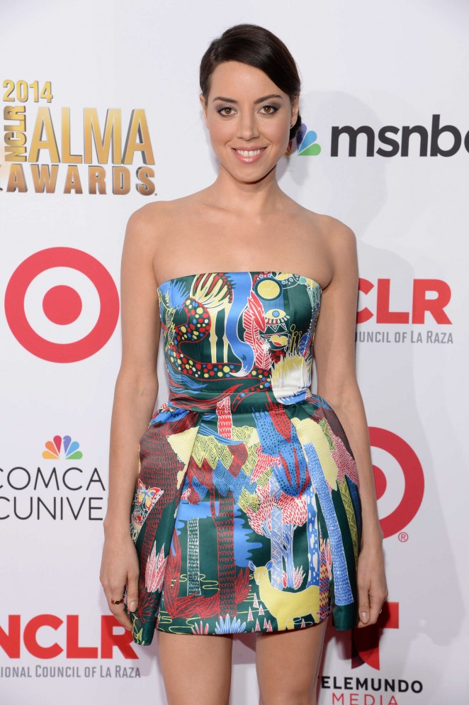 Aubrey Plaza at NCLR ALMA Awards 2014