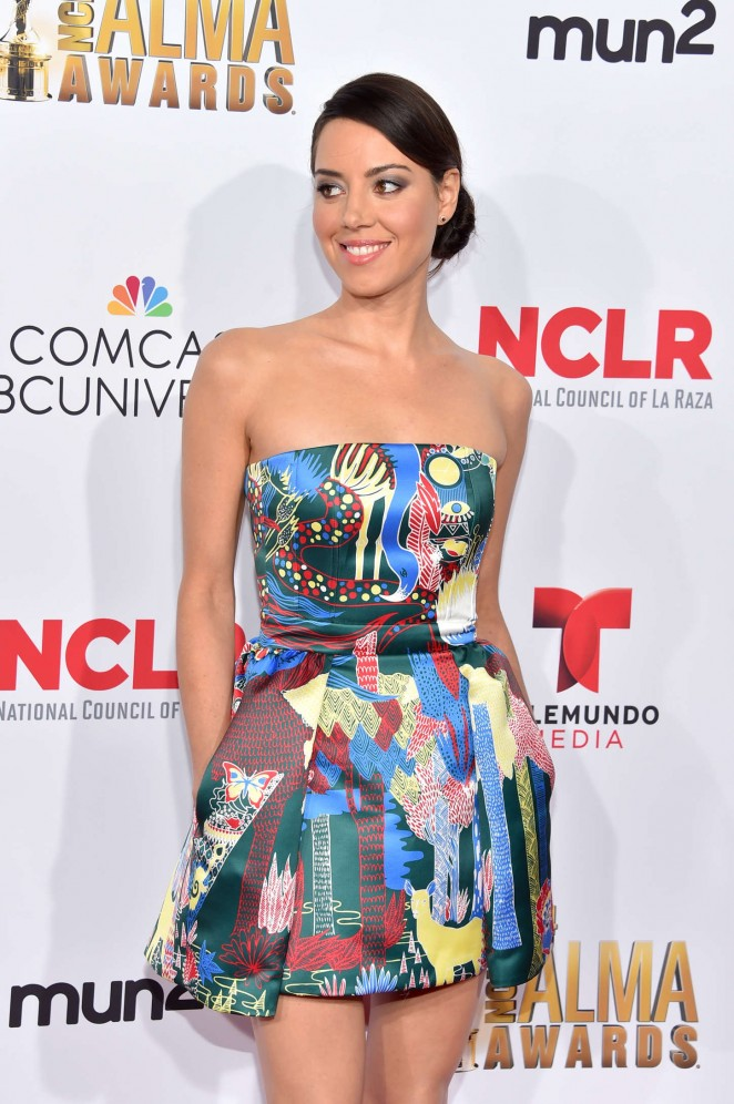 Aubrey Plaza: 2014 NCLR ALMA Awards -09
