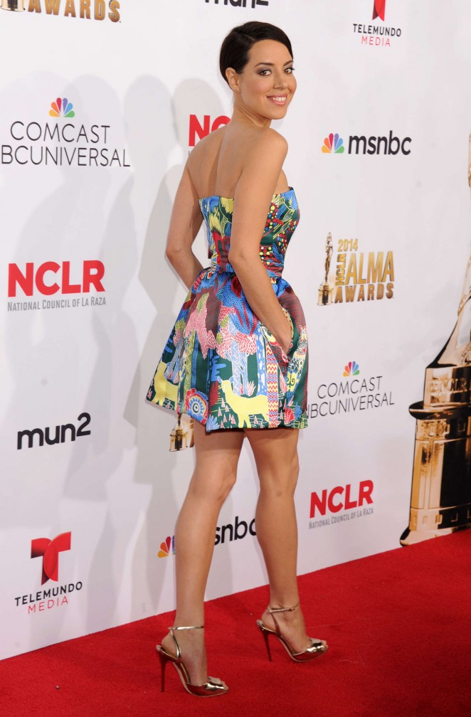 Aubrey Plaza: 2014 NCLR ALMA Awards -12
