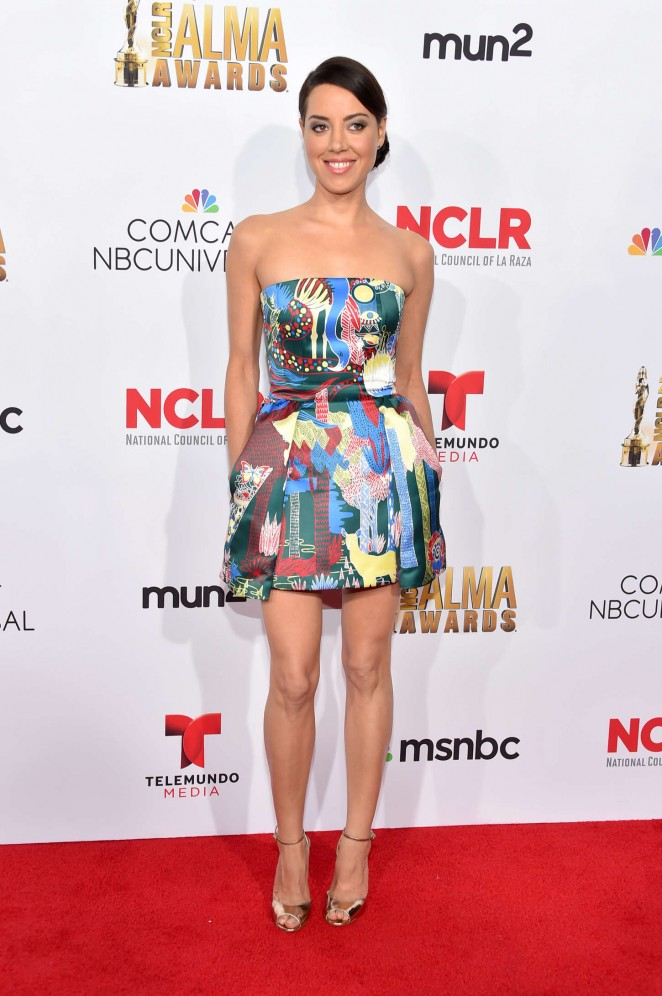 Aubrey Plaza: 2014 NCLR ALMA Awards -18