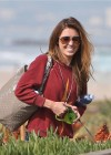 Audrina Patridge - In Jeans Walking her dog near the beach -03