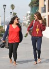 Audrina Patridge - In Jeans Walking her dog near the beach -05
