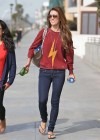 Audrina Patridge - In Jeans Walking her dog near the beach -08