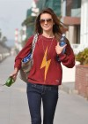 Audrina Patridge - In Jeans Walking her dog near the beach -09