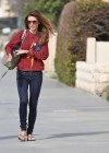 Audrina Patridge - In Jeans Walking her dog near the beach -10