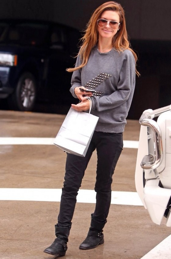 Audrina Patridge in tight pants leaves Lancer Dermatology in Beverly Hills 1/25/13