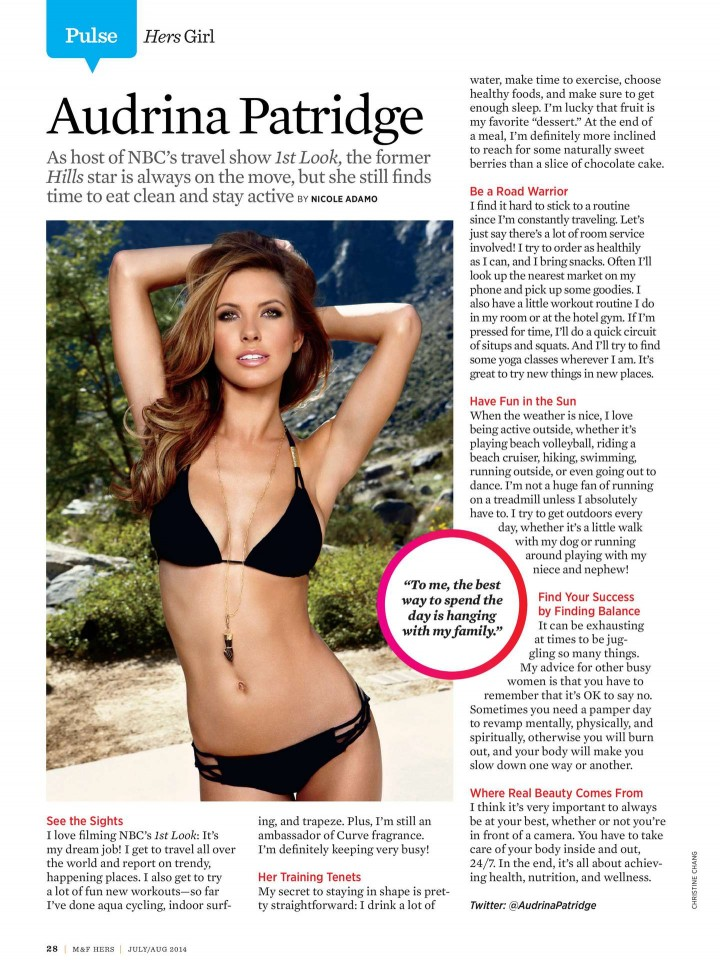 Audrina Patridge – Muscle & Fitness Hers (July/August 2014)