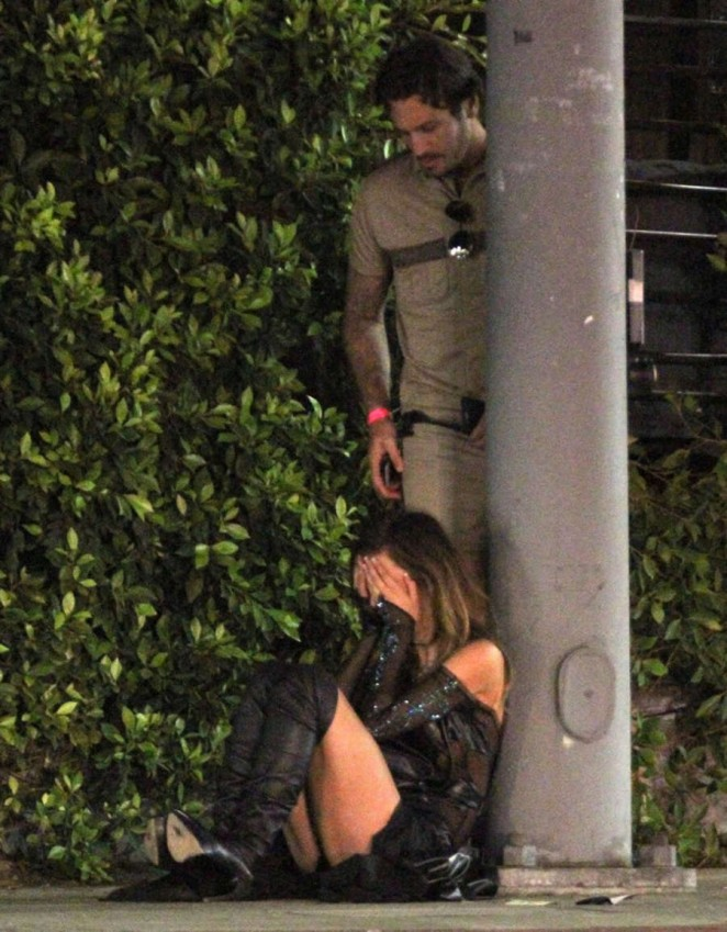 Audrina Patridge and Corey Bohan Fight Outside Hyde Nnightclub -07