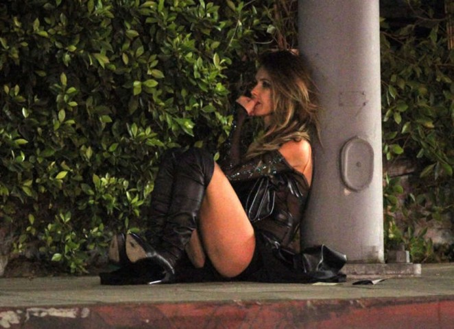 Audrina Patridge and Corey Bohan Fight Outside Hyde Nnightclub -10