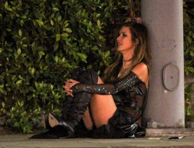Audrina Patridge and Corey Bohan Fight Outside Hyde Nnightclub -24