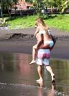 Audrina Patridge - Wearing a bikini in Tahiti -19