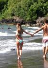 Audrina Patridge - Wearing a bikini in Tahiti -40