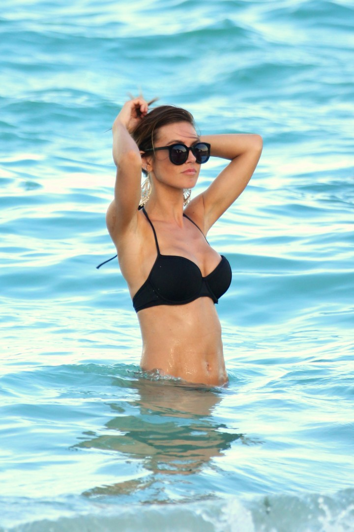 Audrina patridge black bikini