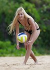 Ava Sambora Bikini Photos: 2014 Playing Volleyball  -01