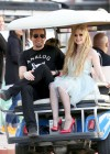 Avril Lavigne - Heres to Never Growing Up Music Video set candids in LA -17