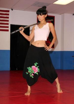 Bai Ling - Martial Arts Training in LA