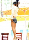 Bai Ling in jeans shorts -10