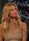 Bar Refaeli showing cleavage at Late Night with Jimmy Fallon