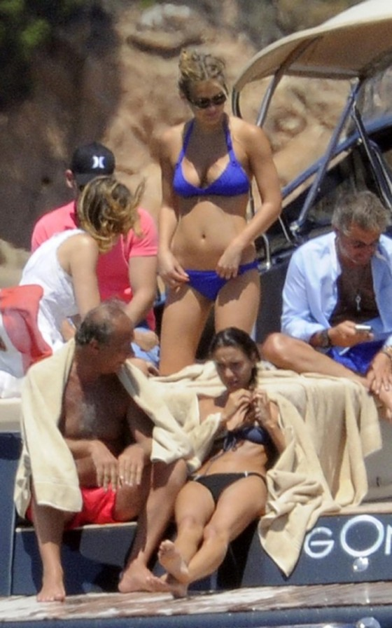 Bar Refaeli and her new boyfriend David Fisher on Fawaz Gruosis boat in Porto Cervo, Italy – July 2011-22