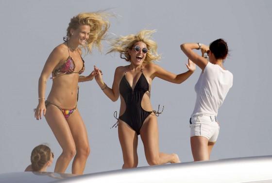 Bar Refaeli in Bikini in Spain -12