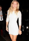 Bar Refaeli shows her legs in small tight dress at MBFW Spring 2013 CR Magazine Launch in NY