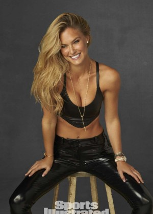 Bar Refaeli in Leather for Sports Illustrated Swimsuit 2014 'Legends' by Walter Looss
