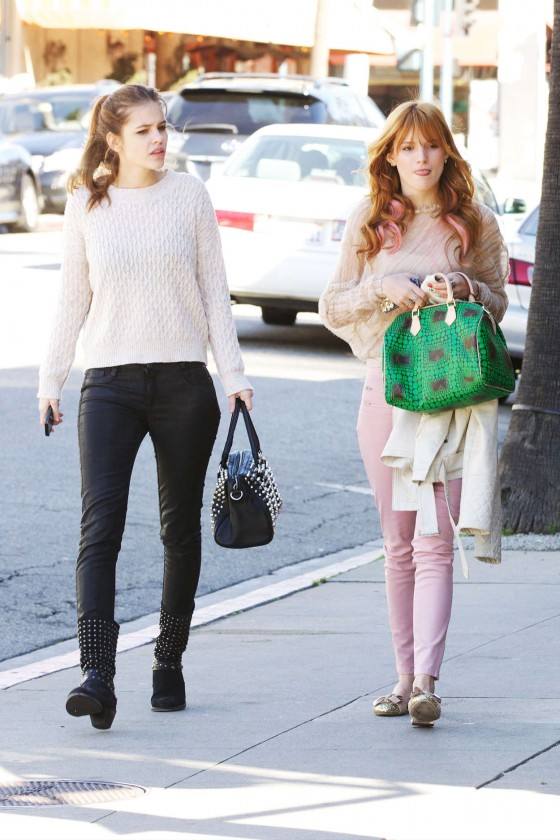 Barbara Palvin and Bella Thorne -03