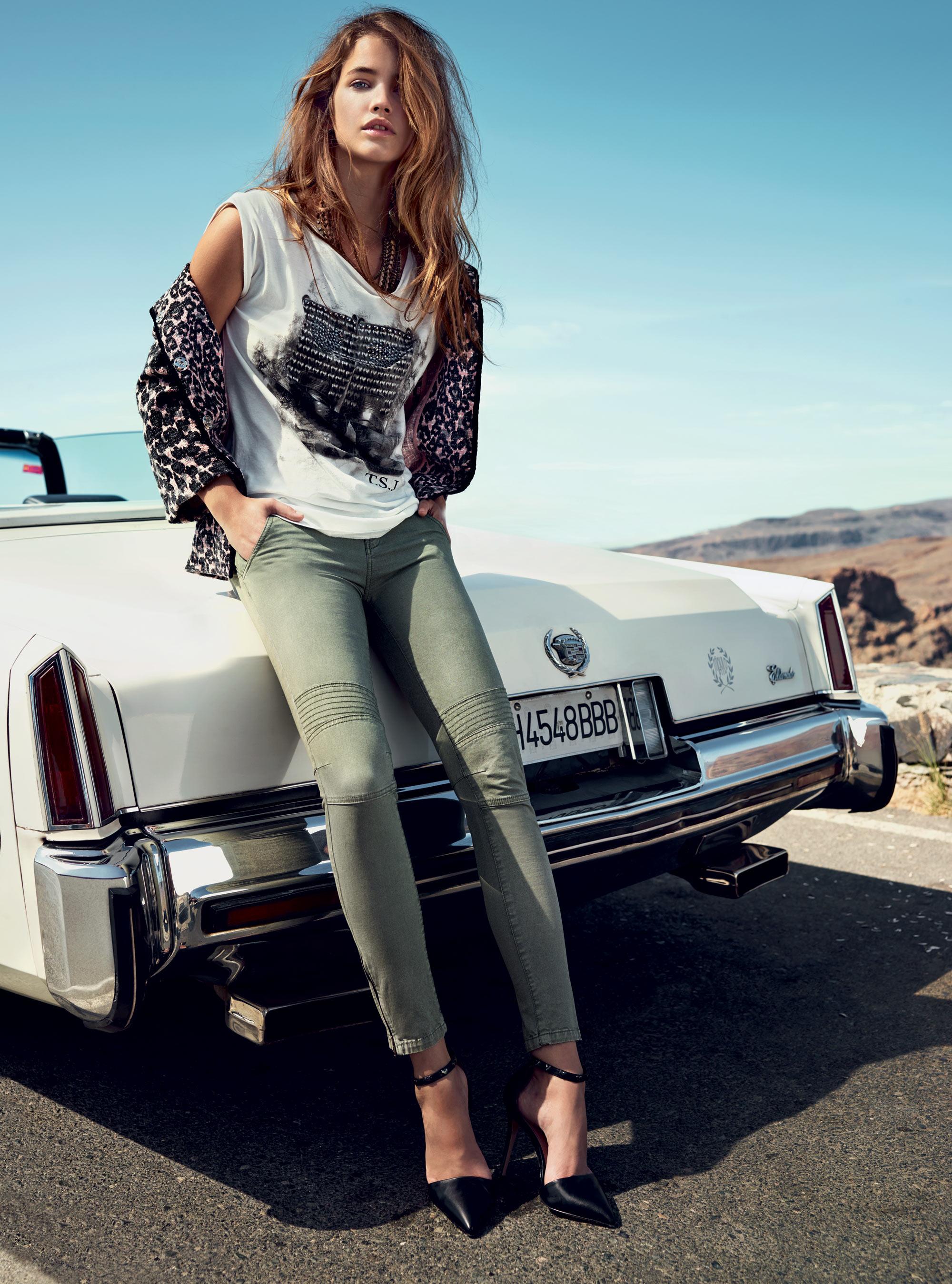 Barbara Palvin Jeans Barbara Palvin Twin-set Jeans