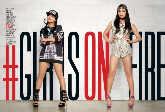 Becky G and Jasmine V – Latina (Feb 2014) -04