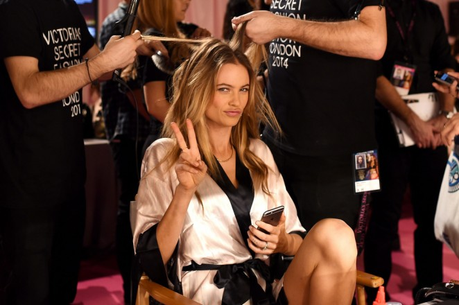 Behati Prinsloo - 2014 Victoria's Secret Show Backstage in London